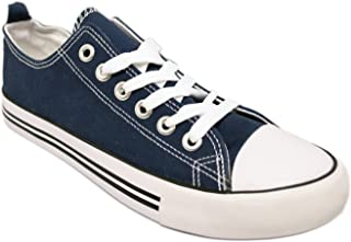 Women's Canvas Low Top Fashion Sneakers Cap Toe Style Classic Canvas Skate Sneaker