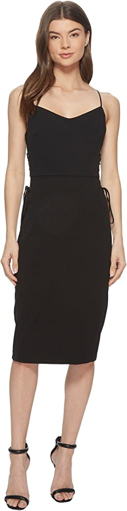 1.STATE - Spaghetti Strap Slip Dress w/ Lace-Up