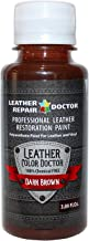 Professional Dark Brown Leather Paint For Touch-Up, Recoloring and Restoration - Shoes, Jacket, Purse, Belt, Couch Chair, Sofa, Motorcycle and Car Seat