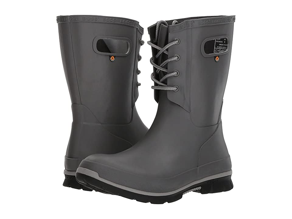 Bogs Amanda 4-Eye Boot (Dark Gray) Women