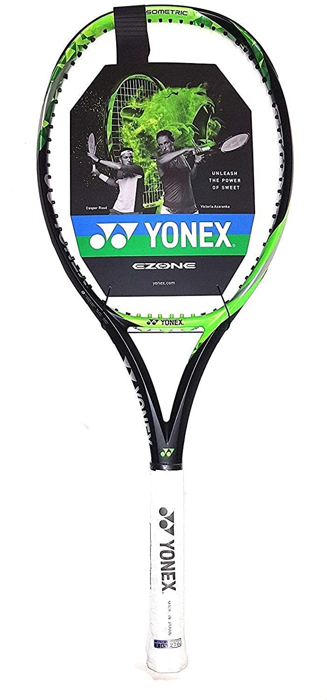 Yonex EZONE Lite (286g - 10.1 oz) Lime Green Tennis Racquet Strung with Custom String Colors (Best Racket for Enhanced Sweetspot & Vibration Reduction)