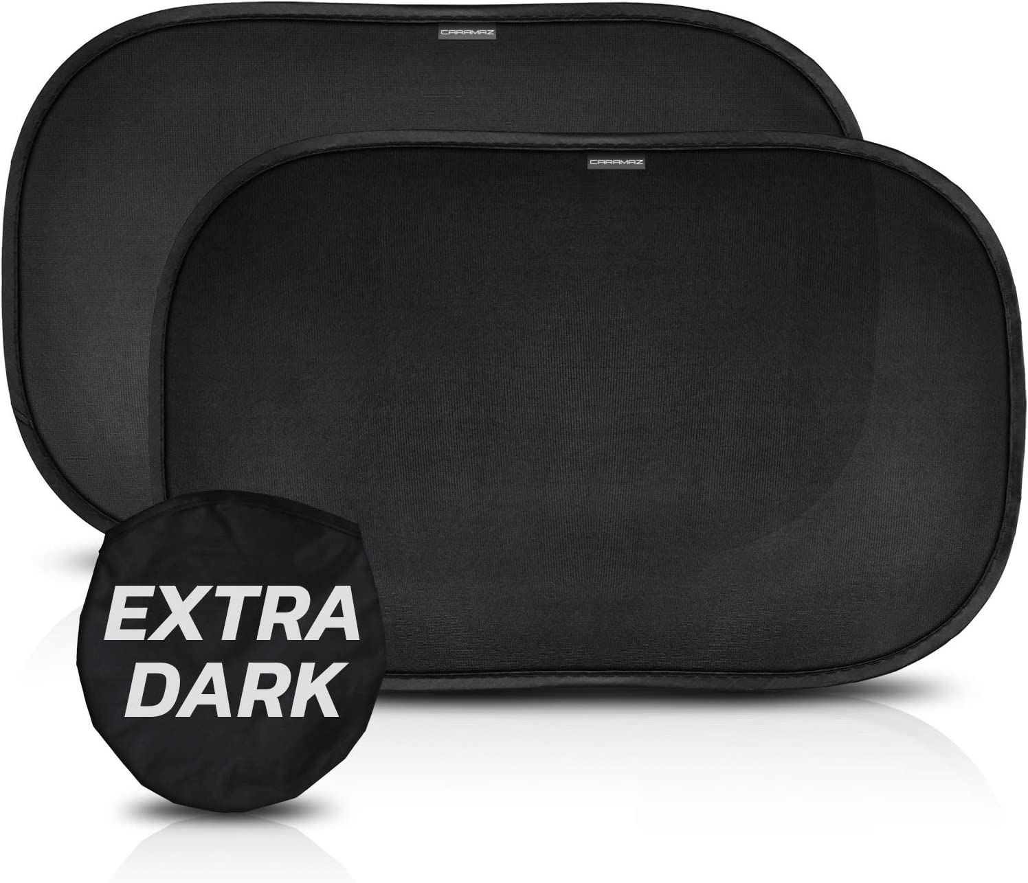 Baby Car Shade Baby Window Shade Sun Shade for Car Window Baby Sun Shades for Car Windows Baby CARAMAZ Car Sun Shade for Baby Certified UV Protection- Extra Dark 51x31cm for Full UV Protection