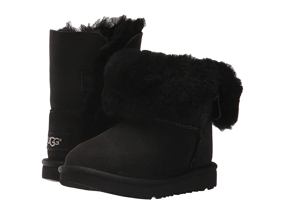 UGG Kids Bailey Button II (Toddler/Little Kid) (Black) Girls Shoes