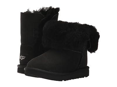 UGG Kids Bailey Button II (Toddler/Little Kid) (Black) Girls Shoes