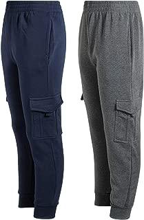 Quad Seven 2-Pack Boys' Fleece Cargo Jogger Sweatpants