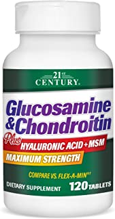 21st Century Glucosamine and Chondroitin Plus Tablets, 120 Count
