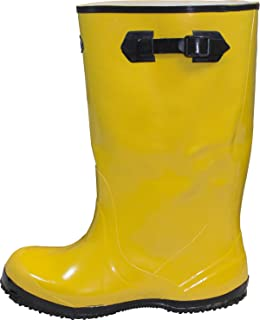 """The Safety Zone BSYE-12-6 Heavy Duty Rubber Shoe Slush Boots, 17"""" Height, Size 12 , Yellow (Pair)"""