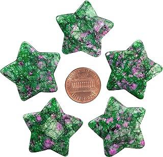 mookaitedecor Set of 5 Star Shape Healing Crystal Pocket Palm Stones, Polished Worry Stone for Reiki Chakra Balancing, Jew...