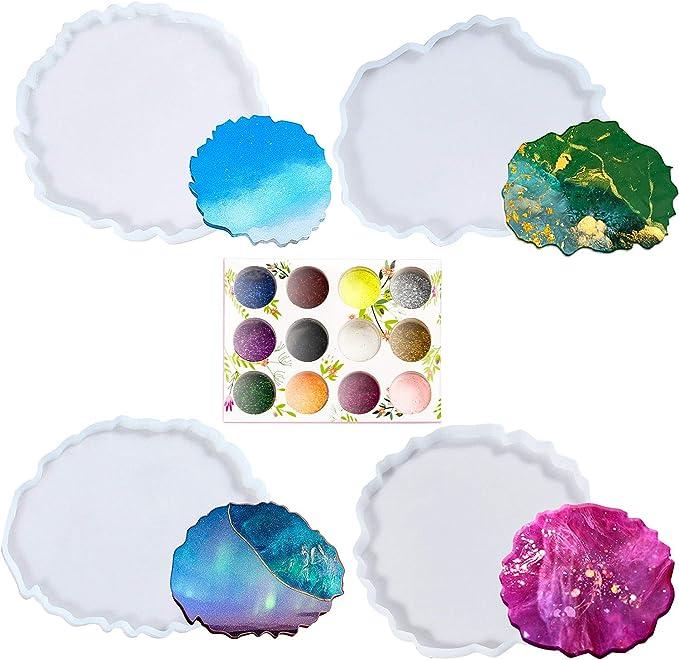15 opiniones para Resina Epoxi Kit Manualidades,Epoxy Resina Transparente Posavasos 4