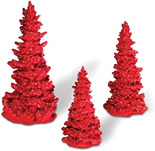 Department 56 Accessories for Villages Red Glitter Tree Set, 10 inch