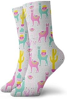 Jhonangel, Cute Alpaca Socks Crew para Hombres Mujeres Niños, Trekking, Rendimiento, Exterior 30 cm / 11.8 pulgadas