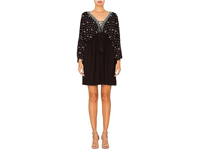 Miss Me Wide Sleeve A-Line Dress in Black