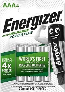 Energizer AAA batterijen, Recharge Power Plus accu, 4 oplaadbare batterijen AAA (2000 mAh)