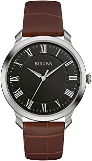 Bulova - Classic - Reloj de Pulsera de Diseño Elegante para Hombre , Correa de Cuero