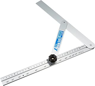 シンワ測定(Shinwa Sokutei) アルミ自由金 30cm 筋交 角度目盛付き 62660