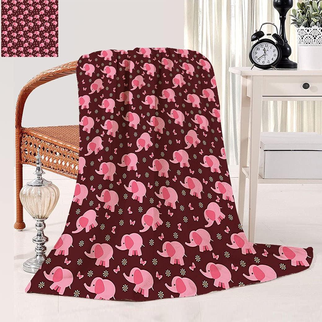 Spasm price Nursery Decor Throw Blanket Super-cheap Baby Elephants S Butterflies Flowers