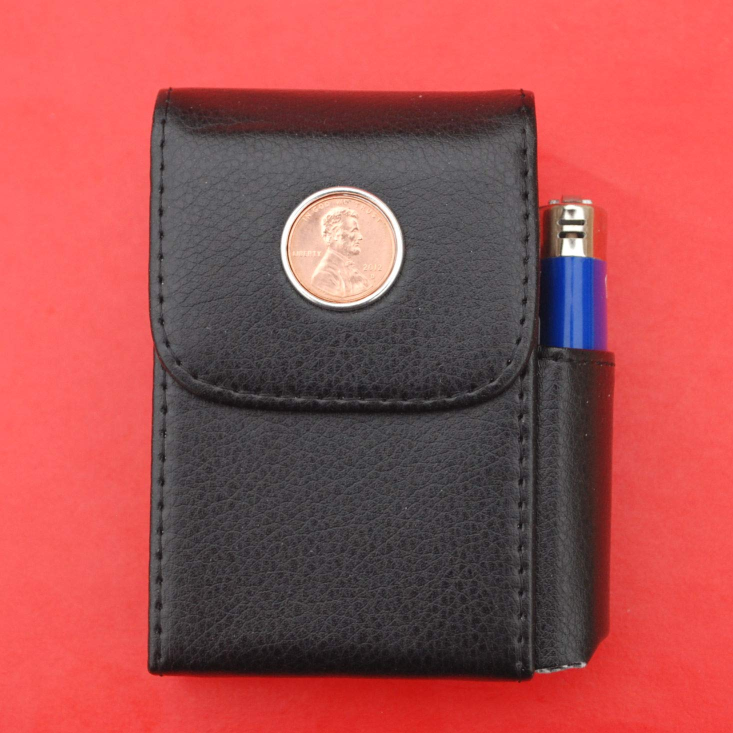 US 2012 Los Angeles Mall Lincoln Small Max 73% OFF Cent BU Coin Leather Black PU Uncirculated
