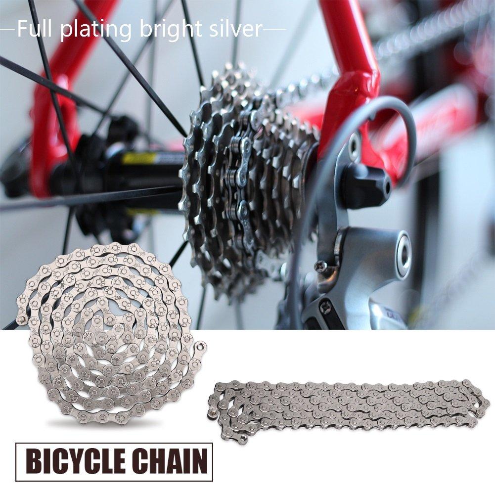 Cadena de Bicicleta 116 Eslabones 8 9 10 Velocidades Cadena de ...