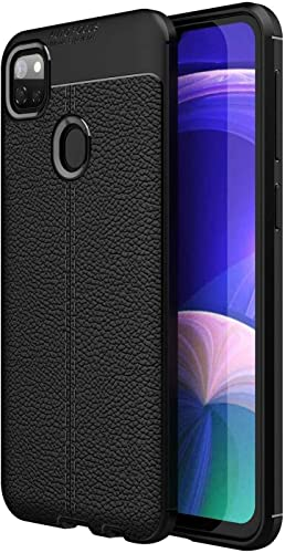 Jotech Leather Textured Autofocus Soft Back Case Cover For Realme Narzo 20 Black