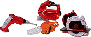 Glittery Shiny Hand Tool Set of Christmas Ornaments (Set of 4) Drill Jigsaw Saw Chainsaw