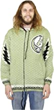 Grateful Dead Alpaca Style Zip Up Hooded Sweater Jacket Steal Your Face