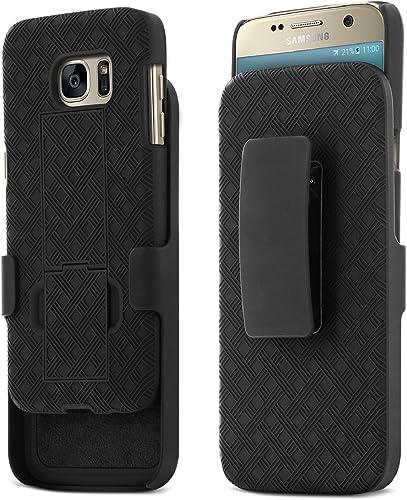Galaxy S7 Case, Aduro Shell & Holster Combo Case Super Slim Shell Case w/Built-in Kickstand + Swivel Belt Clip Holste...