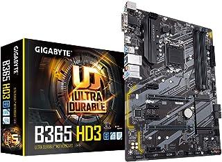 اتش دي ثري B365 جيجابايت (ال جي ايه 1151/انتل/ايه تي اكس/2xM.2/جيجابايت 8118 شبكة محلية سلكية للألعاب/منفذ واي فاس قابل لل...