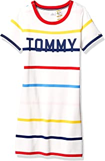 Tommy Hilfiger Women's Adaptive Tommy Striped Dress with Magnetic Closure at Shoulders