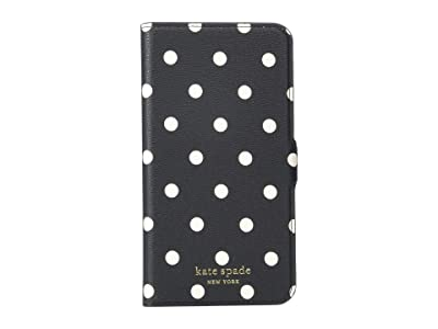 Kate Spade New York Cabana Dot Magnetic Folio for iPhone(r) 11 Pro Max (Black Multi) Cell Phone Case