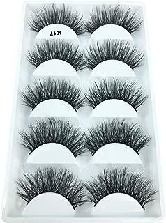3D Real Mink False Eyelashes MZ BEAUTY 100% Siberian Mink Fur Cruelty-free Luxurious Fake Eye Lashes Makeup 5 Pairs/Box K17