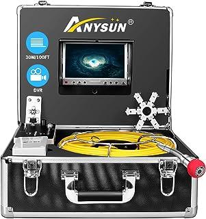 Endoskopkamera Endoskop Inspektionskamera, Kanal Rohr Industrie Endoskop mit DVR Recorder, wasserdichtes drahtloses IP68 Endoskop 30m mit 7 Zoll LCD Monitor 1000TVL (8 GB SD Karte, einschließlich)