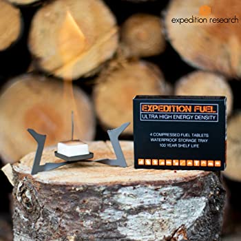 Expedition Solid Fuel - 40 XL Hexamine 1300-Degree Tablets in 10 Retail Packages - Rugged & Submersible Storage Trays...