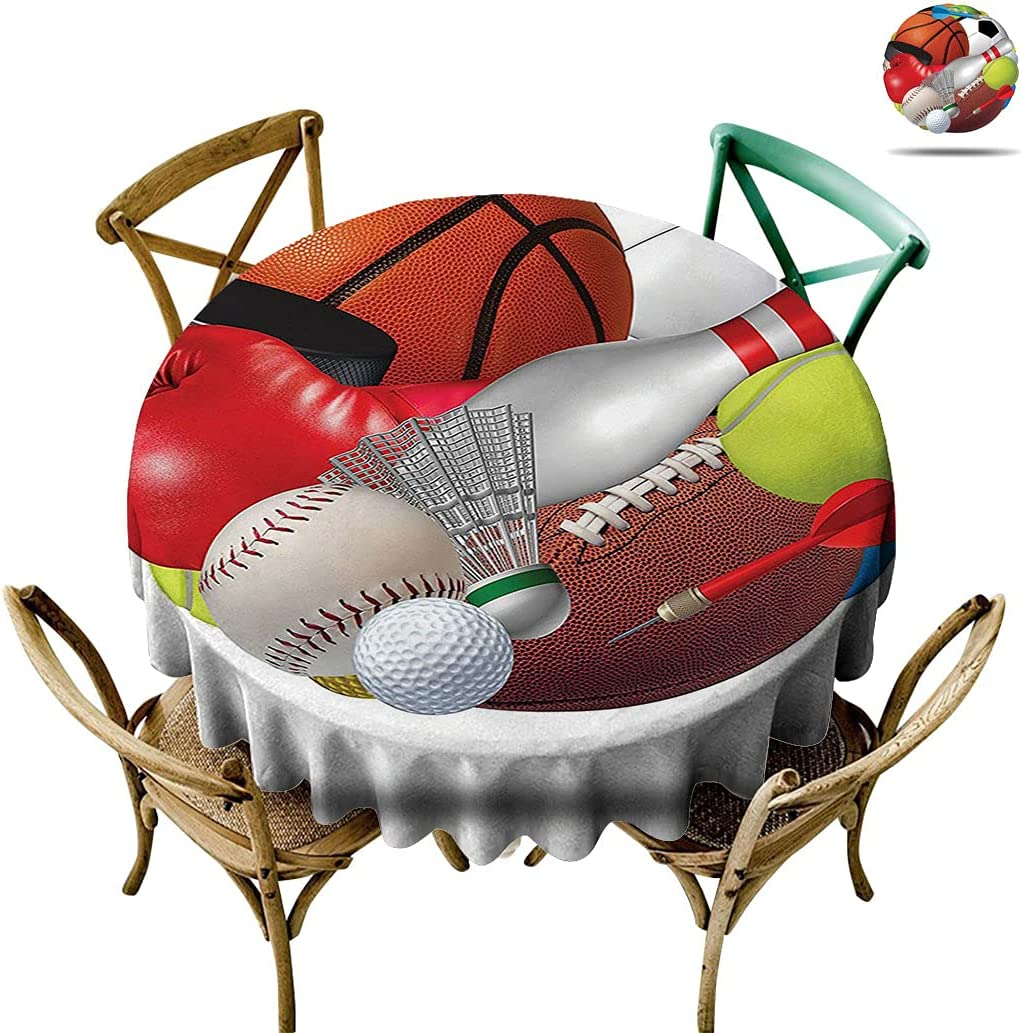 Sports online shopping Round Table Cloth, Soccer with Combined S El Paso Mall Ball Other