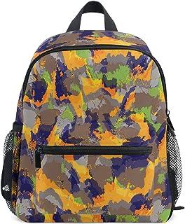 MONTOJ Colorful Camouflage Weben Segeltuch Reisetasche Verstaubarer Unisex Schule Pack Daypack für Kinder