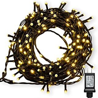 WISD Fairy String Lights 1000 LED 338ft with 8 Effects and Memory Function, LED Christmas Lights Waterproof Plug in for Indoor Outdoor Christmas Tree Home Garden Wedding Party Decoration, Warm White