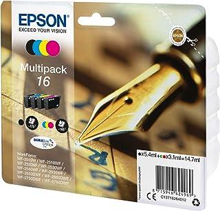 Epson 16 Serie Penna, Cartuccia Originale Getto d'Inchiostro DURABrite Ultra, Formato Standard, Multipack 4 Colori, con Am...