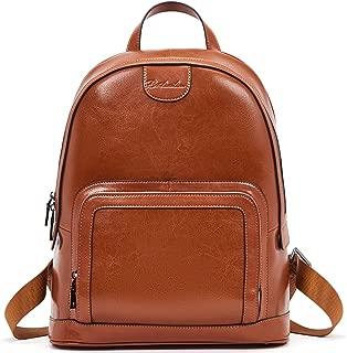 BOSTANTEN Women Leather Backpack Purse Rucksack Shoulder Bag Large Travel Casual College Bags