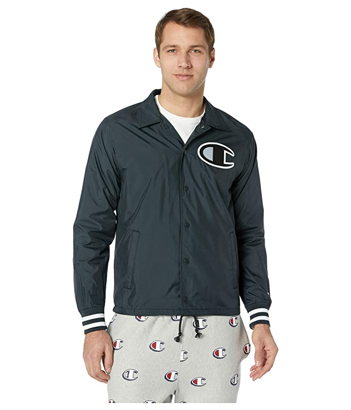 Champion LIFE Mens Satin Coaches Jacket with Ribbed Cuffs