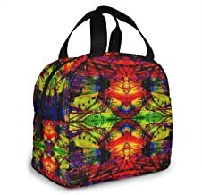 Lsbury Trippy Acid Wallpaper Hd Pics Widescreen Trip Desktop for Insulated Lunch Bag Cooler Tote Bag Luch Box Lunch Container Lunch Organizer,Lunch Holder with Front Pocket Zipper