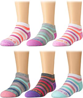 Reebok Girls' Cushioned Comfort Athletic Performance No-Show Ankle Low Cut Socks (6 Pack)