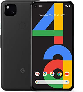Google Pixel 4a - New Unlocked Android Smartphone - 128 GB of Storage - Up to 24 Hour Battery - Just Black (Renewed)
