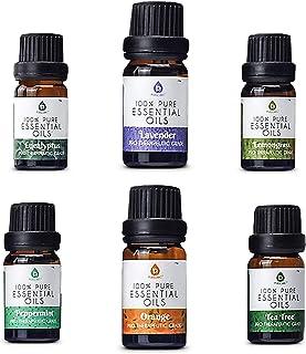 Pursonic 100% Pure Essential Aromatherapy Oils Gift Set-6 Pack , 10ML(Eucalyptus, Lavender, Lemon grass, Orange, Peppermin...