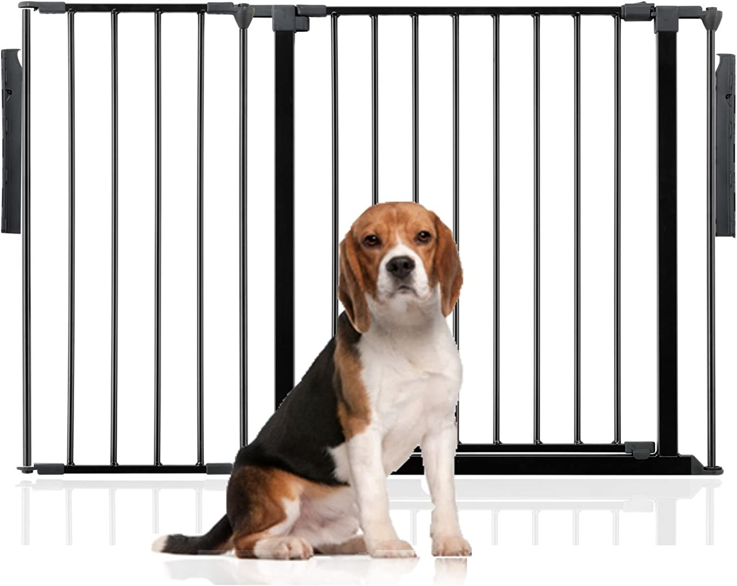 Bettacare Premium Multi Panel Flexible Pet Barrier (Upto 118cm (70cm Tall), Black)