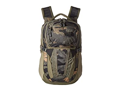 The North Face Recon (Burnt Olive Green Waxed Camo Print/Burnt Olive Green) Backpack Bags