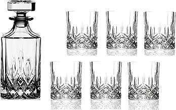 vinos de Bourbon y Tonic y c/ócteles vinos de cristal italiano para whisky Juego de vasos de whisky y vasos de whisky de madera para whisky vinos de whisky Flow Barware
