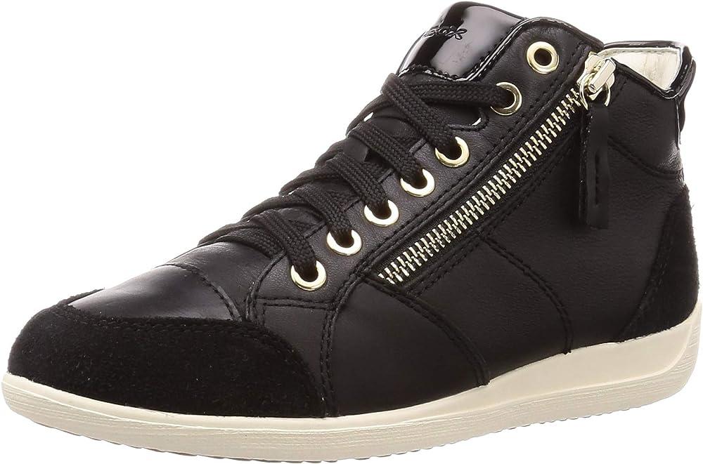 Geox d myria c, scarpe da ginnastica a collo alto donna,sneaker casual da donna,in pelle D6468C08522