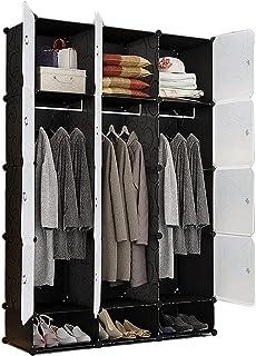 Garde-robe XINYALAMP Armoire Résine Armoire Pratique Double Cadre de Placard Double Cadre de Stockage modulaire Armoire de...