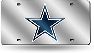 Rico Industries NFL Laser Inlaid Metal License Plate Tag, Silver