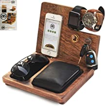 Deal of The Day - Wooden Docking Station, Desk Organizer, Nightstand Docking Station, Unique, Wood Docking Station, Birthday Gift, Gift for Men