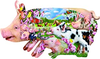 Pig Farm Shaped 800 pc Jigsaw Puzzle by SunsOut